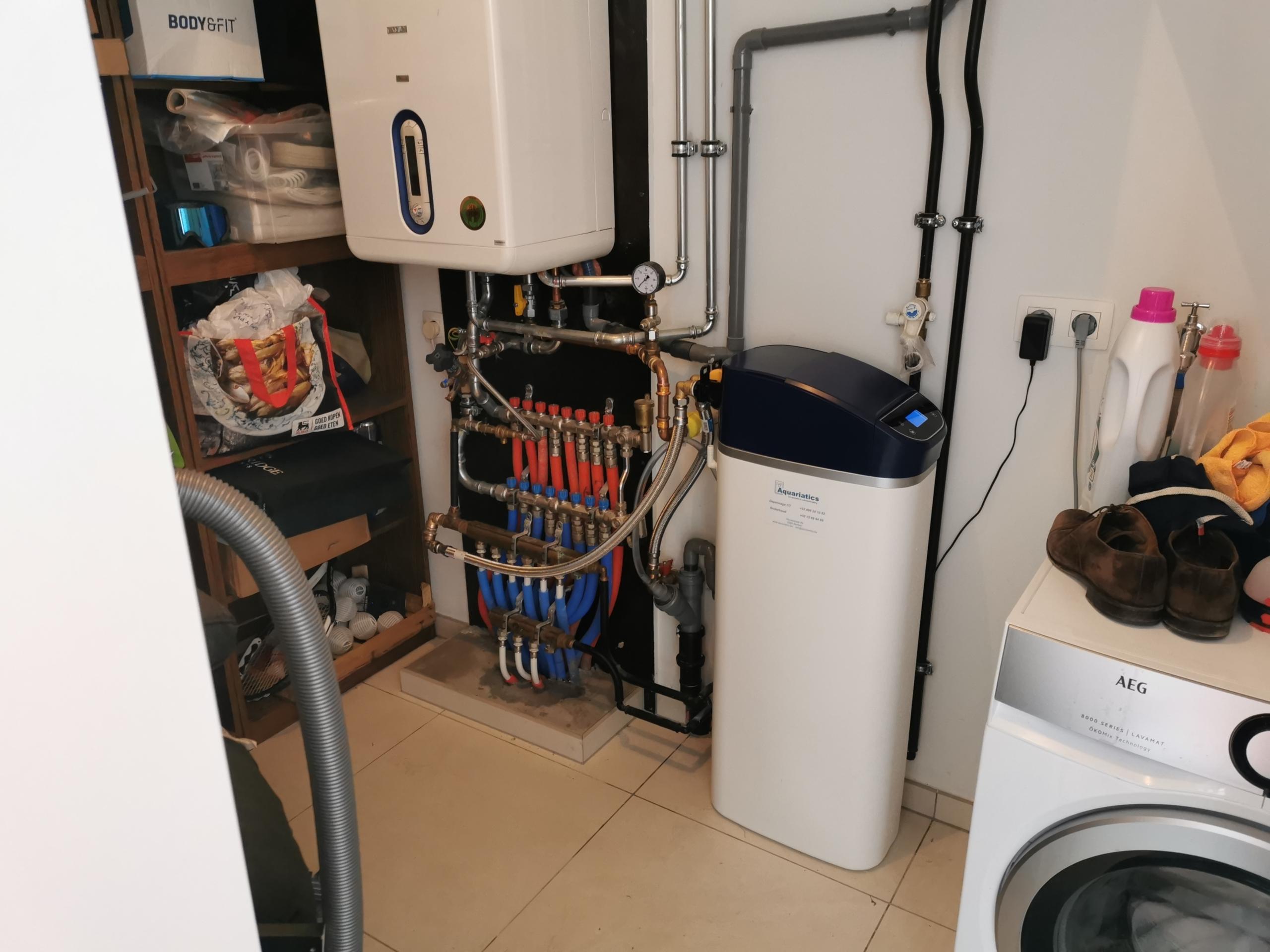 Waterontharder installatie